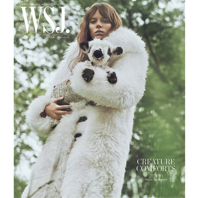 Freja Beha Baby Lamb WSJ Magazine